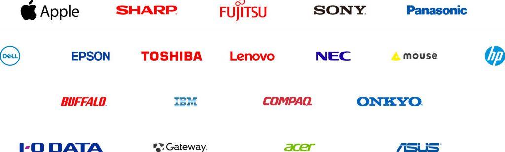 対応メーカー一覧のロゴ